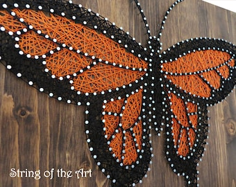 Butterfly String Art Kit - Adult Crafts Kit, DIY String Art, Home Decor, DIY Kit, Crafts Kit, DIY Crafts - Includes all crafting suppli