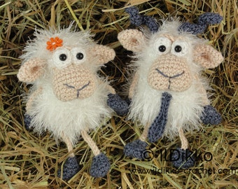 Amigurumi Crochet Pattern - Baarney & Baarb the Sheep - English Version