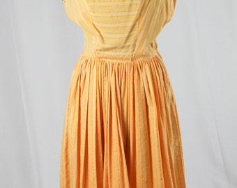 60s Orange Sleeveless Dress