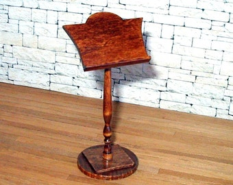 Music Stand, Book Stand, Dollhouse Miniature 1/12 Scale, Hand Made