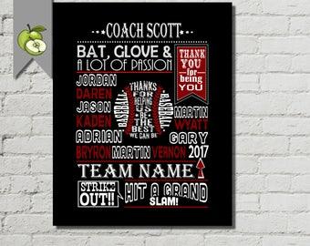 Baseball coach gift, coach Appreciation, base ball team gift, baseball printable, baseball, custom, coach Leaving gift, retirement, BB1