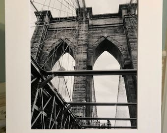 Brooklyn Bridge - 8x10 Black and White Photo