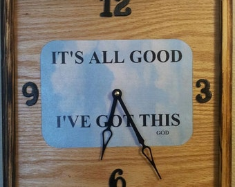 Handcrafted it's all good clock
