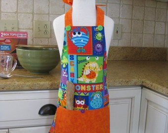 Kids Apron, Childrens Apron, Play Apron