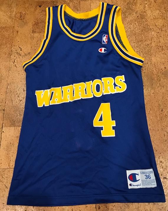 Vtg Chris Webber Golden State Warriors NBA Champion Jersey Sz Men's S 36 Oz3dqr9J