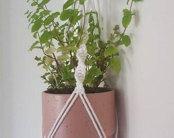 Macrame Plant Hanger Pot Holder Handmade Boho Gift