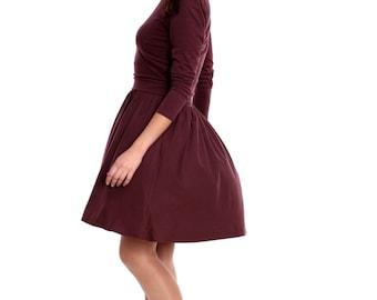 Breastfeeding Dress, Nursing Dress, Brown Nursing Clothes,  Hazel Breastfeeding Clothes for Photo Shoot, Custom Color Nursing Cover Up