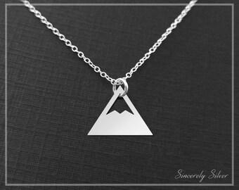 Mountain Charm Necklace, Adventure Necklace, Nature Necklace, Mountain Pendant Necklace, Mountain Jewelry