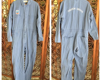 Vintage Chevron Oregon Mechanics Jumpsuit