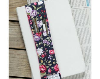 Notebook pen holder - Flowers