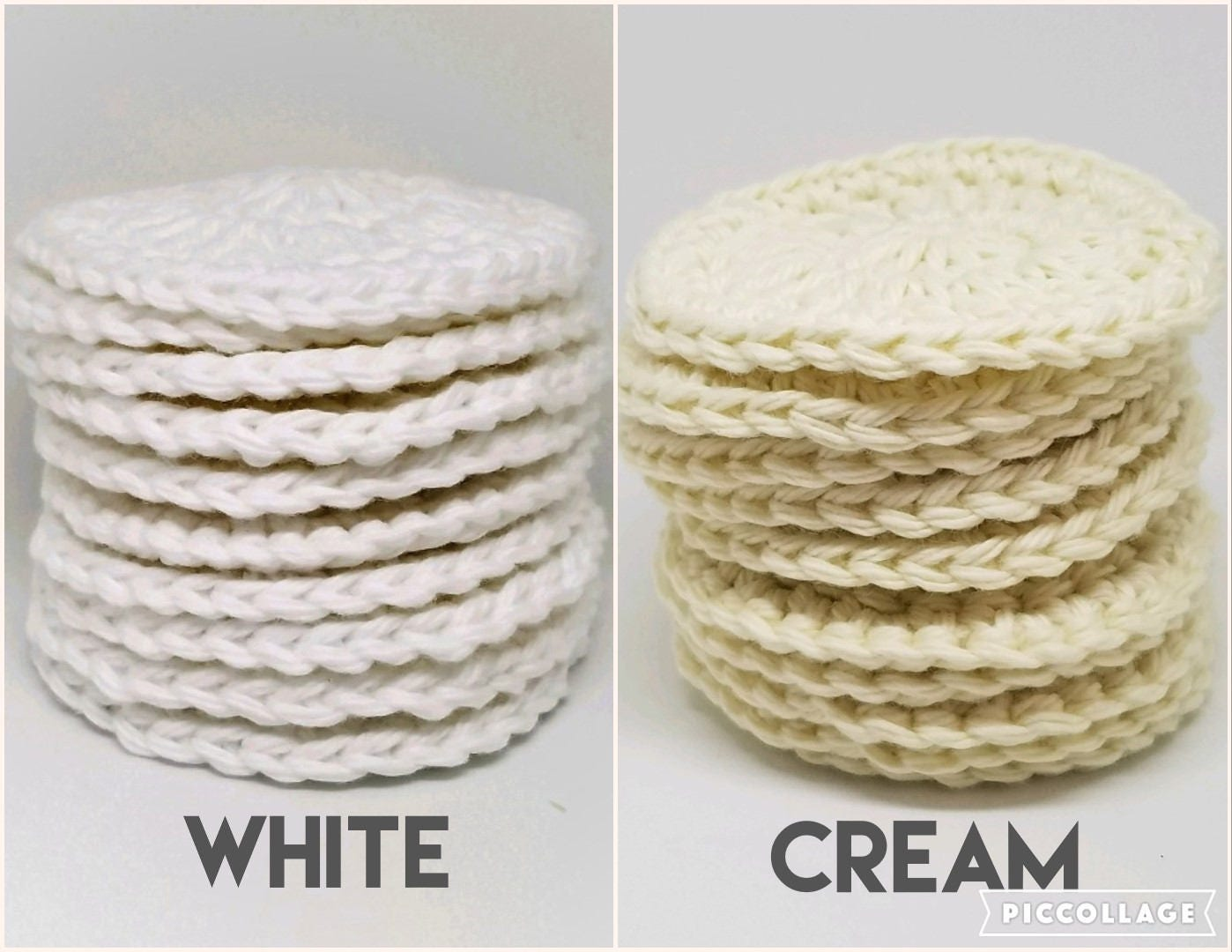 Cotton Face Scrubbies set of 10 in your choice of Cream or