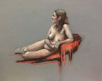 original figure drawing woman