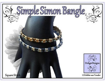 Tila Beading Pattern, Tutorial, Bangle - SIMPLE SIMON