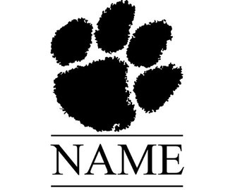 Personalized glossy Vinyl Decal, Clemson