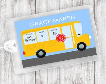 NEW School Bus Luggage Tag