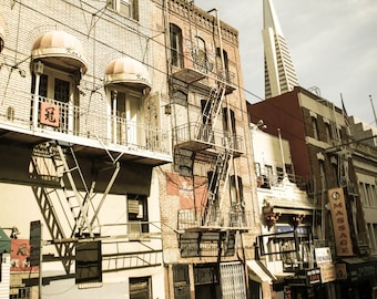 8x10 -  Transamerica Building from China Town, San Francisco, CA