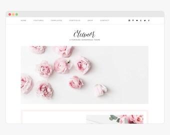"Wordpress Theme - Wordpress Ecommerce Theme - Genesis Wordpress Website Theme - Business Shop Theme - ""Eleanor"" Instant Digital Download"