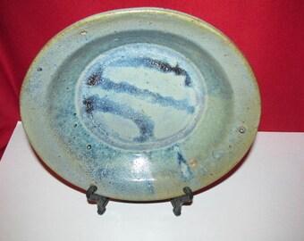 Glazed Stoneware Pottery Dish-- Bird Feeder, Birdbath -- Ricepot