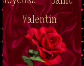 Matching Valentine's Day card: the rose of love
