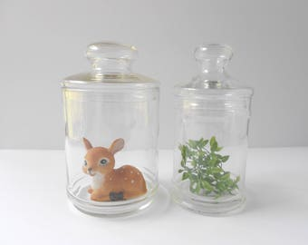 Vintage Apothecary Jars - Apothecary Canister Containers - Candy Buffet Jars