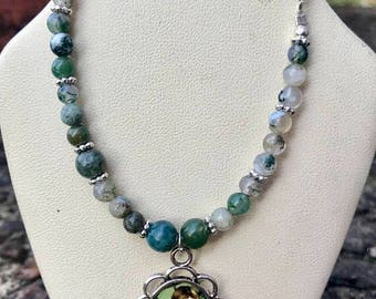 Celtic Irish Fairy Bracelet with Forest Jasper