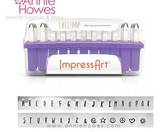 Metal Stamp Set. Impressart Alphabet Stamp Set - 3mm metal stamps - LOLLIPOP Uppercase Set