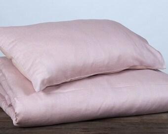 Lilac pink linen pillow case, linen pillowcase, dusty pink, lilac, pink linen bedding, bedding linen, bedding pink, bedroom decor, pillow