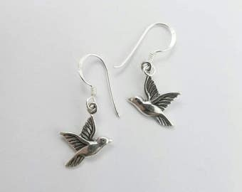 Elements Silver Hummingbird Sterling Silver Earrings 33yZXW