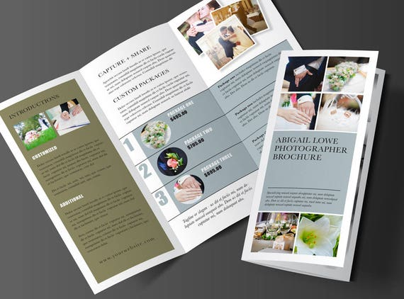 Trifold Brochure Design Rack Brochure Template Marketing