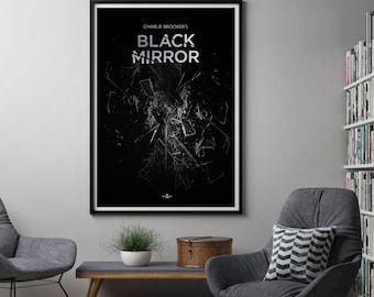 Black Mirror Poster, Black Mirror TV Poster Black Mirror Art, Black Mirror Print, TV Poster, Charlie Brooker, Netflix, Screenwipe, TV Series