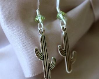 Cactus earrings - Sterling Silver on Sterling earwires