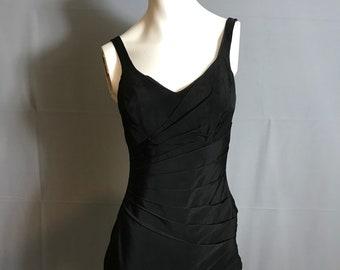 Vintage 1950's Catalina Black Bombshell Bathing Suit M