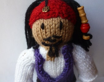 Jack Sparrow knitted doll