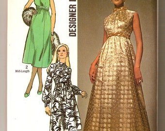 Simplicity 9118 1970's Misses' Designer Dress