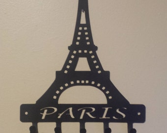 CNC Cut Eiffel Tower Paris Key Holder / Key Chain / Necklace / Jewelery Holder