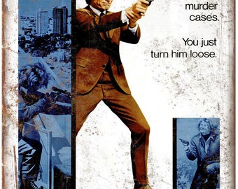 """Dirty Harry Clint Eastwood Movie Poster 10"""" x 7"""" Reproduction Metal Sign"""