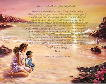 MOM to SON or DAUGHTER Gift and Keepsake (Children) #1054  and # S1054 in English and Spanish