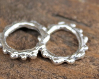 Orings Bumpy Links Sterling Silver Artisan 002/