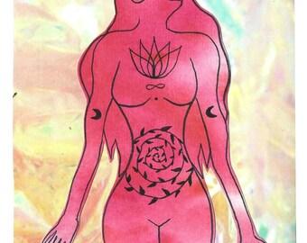 Sacred Feminine - postcard