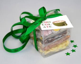 Hot Chocolate and Marshmallows Kit, Chocolate Drops Drink Making Set, Luxury Hot Chocolate Cocoa Mix Gift, Belgian Chocolate Stocking Filler