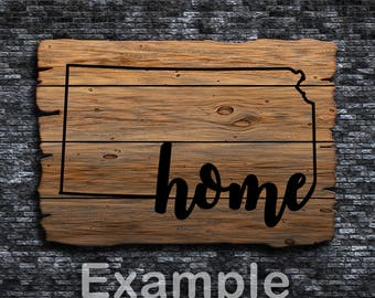 Kansas Home ai  eps  jpg  png  and svg Clipart, Vinyl, Stencil - Cricut - Silhouette Cameo