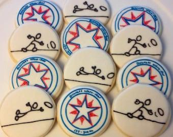 Ultimate frisbee decorated sugar cookies