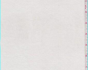 Pale Ivory Rayon Rib Knit, Fabric By The Yard