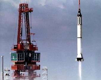 Launch of Mercury Astronaut Alan Shepard in Freedom 7 Spacecraft - 5X7, 8X10 or 11X14 NASA Photo (BB-082)