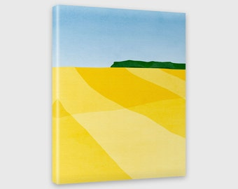 Modern Art Canvas Print, Abstract Landscape, Minimalist Art, Abstract Wall Art, Yellow Wall Art