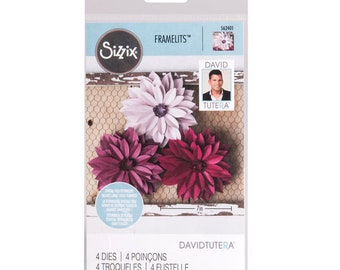 Sizzix Dahlia Framelits By David Tutera 562401 Scrapbooking & Paper Craft Supplies