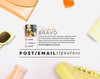 Premade Blog Email Signature | Pink Email Signature | Glitter Design | Fashion Blog Design | Beauty Blog Design | Email Signature Design
