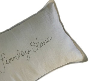 CUSTOM Handstitched Cushion cover- DOVE GREY
