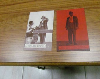 Two c-1930s Amos and Andy Postcards