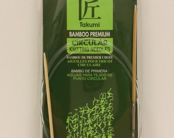 Clover Takumi Bamboo Premium Circular Knitting Needle Size 1 (2.25mm) 48 inches (120 cm) long